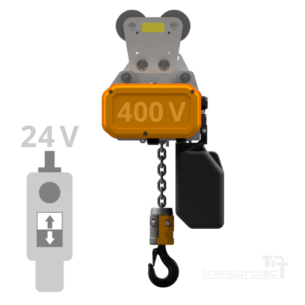 Elektrokettenzug 400 V mit 24-V-Steuerung - Rollfahrwerk