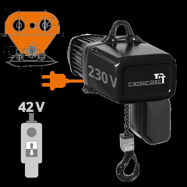 Elektrokettenzug T-ECH (230 V) mit Rollfahrwerk