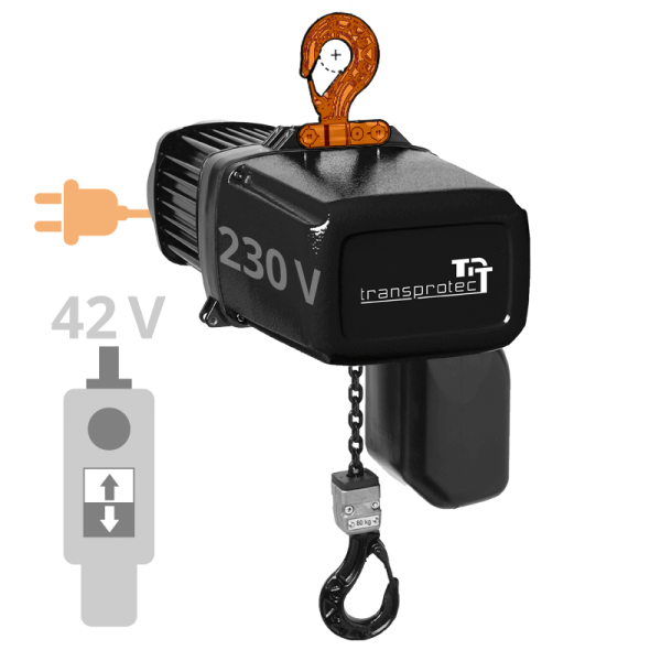 Elektrokettenzug T-ECH (230 V) mit Hakenaufhängung