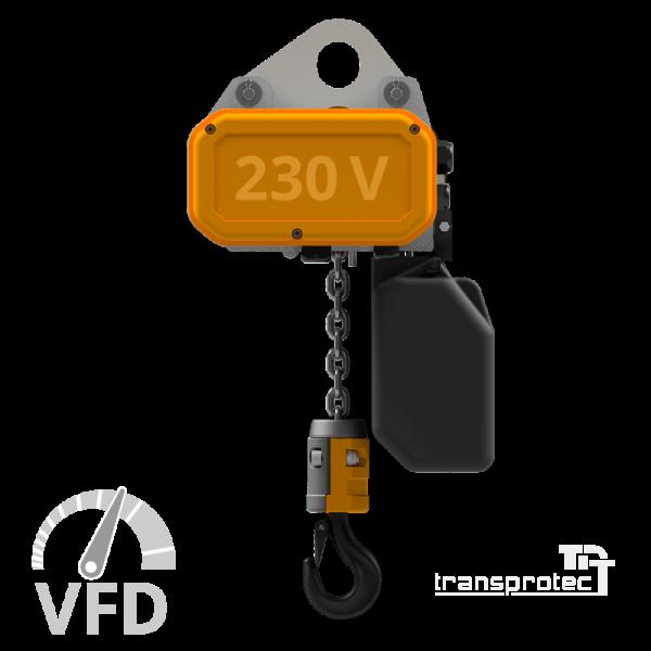 Elektrokettenzug, 230 V, mit Frequenz-Umrichter-Steuerung (VFD)