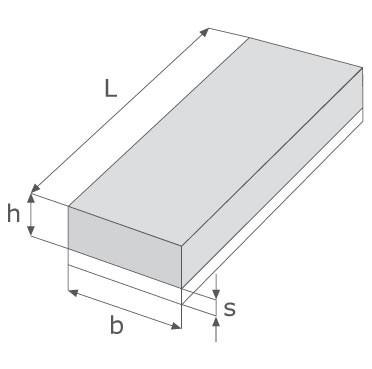 Gummi-Metall-Schiene, einfach Metall (Typ E)