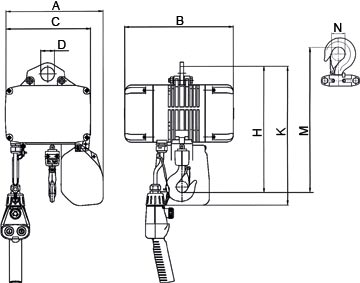 elektrokettenzug mit sch tzsteuerung transprotec gmbh. Black Bedroom Furniture Sets. Home Design Ideas