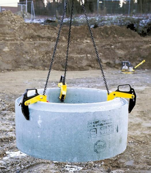 Anwendung: Betonrohr-Transportgehänge TPBTG
