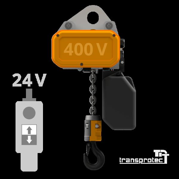 Elektrokettenzug 400 V mit 24-V-Steuerung - Ösenaufhängung