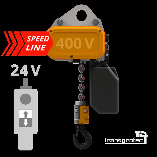 Elektrokettenzug, 400 V, Speedline, mit Schützsteuerung 24 V AC