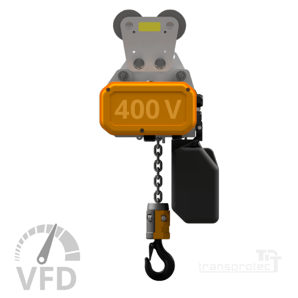 Elektrokettenzug, 400 V, mit Frequenz-Umrichter-Steuerung (VFD), mit Rollfahrwerk