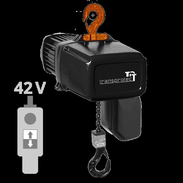 Elektrokettenzug, 400 V, mit Schützsteuerung 42 V AC und Haken