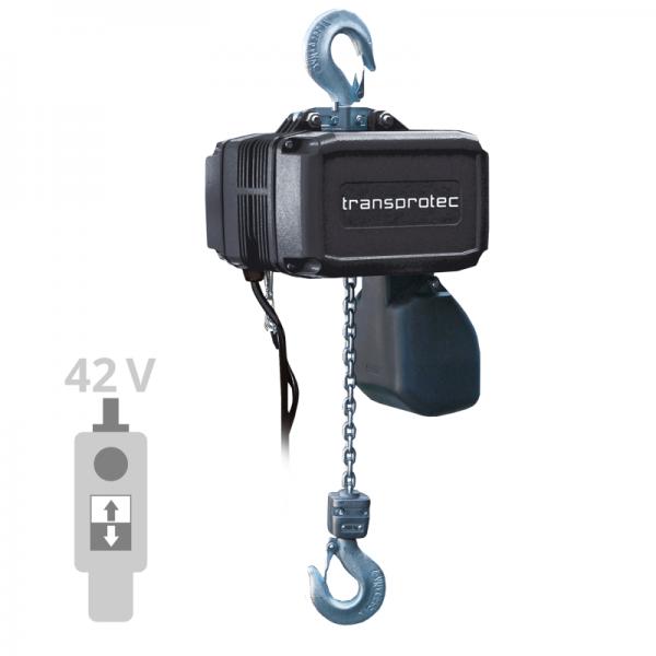 Elektrokettenzug T-GCH mit Schützsteuerung - Hakenaufhängung (IP55)